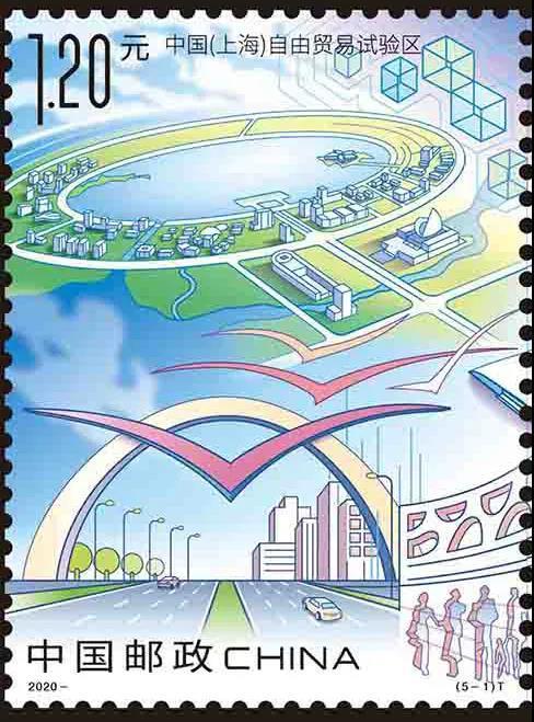 看三十年的发展来浦东!新时代的浦东邮票规格一览